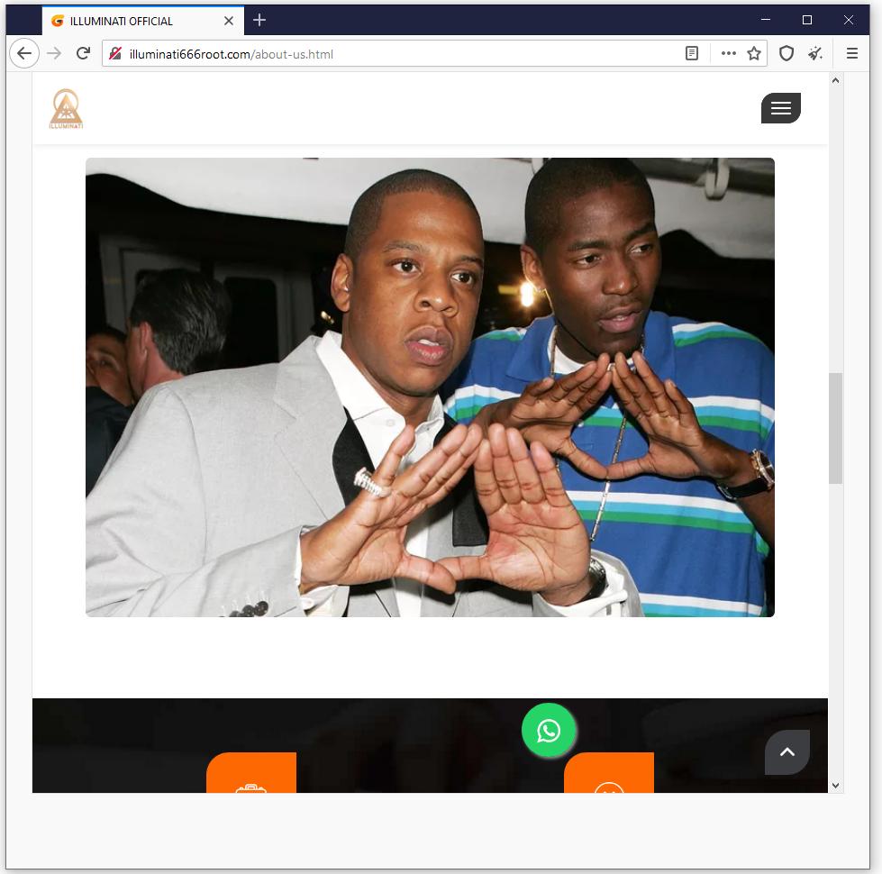 An Iluminati Hand Pyramid